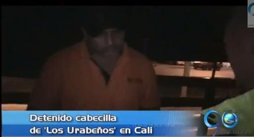 Detenido en Cali alias 'El viejo' cabecilla de 'Los Urabeños'