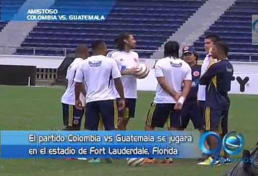 Colombia está lista para el juego amistoso ante Guatemala