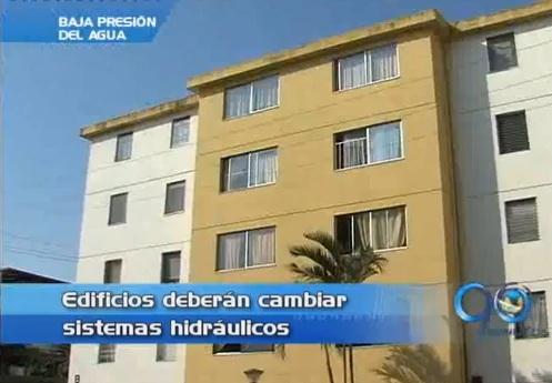 Edificios de más de 4 pisos deberán cambiar sistemas hidráulicos