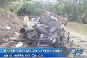 Ejército desactivó carro bomba en el norte del Cauca