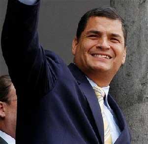 Rafael Correa, ganador virtual de las elecciones presidenciales