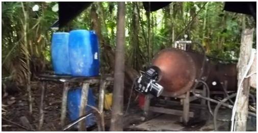 """Desmantelado cristalizadero de """"los Rastrojos"""" en Nariño"""