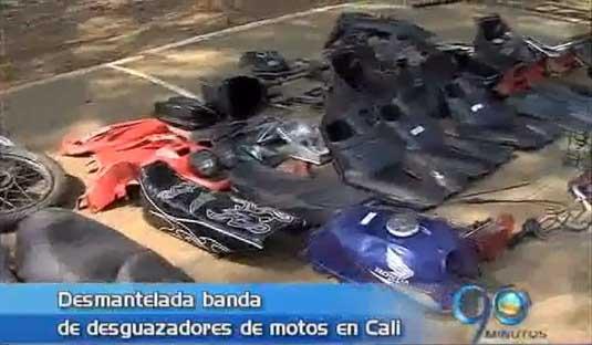 Desmantelada banda de desguazadores de motos
