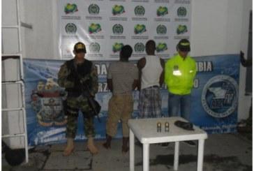 Capturan dos presuntos extorsionistas de las Farc en Tumaco
