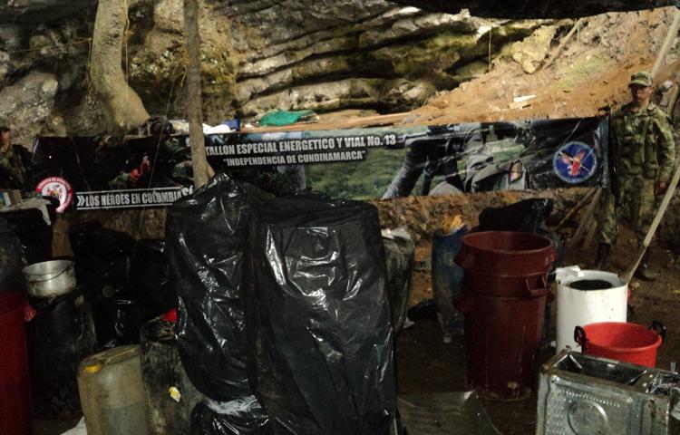 Continúan golpes del Ejército contra narcotráfico de las Farc