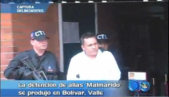 """Legalizada captura de """"Malmarido"""", cabecilla militar de """"Los Rastrojos"""""""