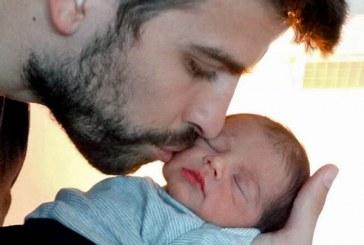 Shakira y Piqué mostraron la primera foto de su hijo