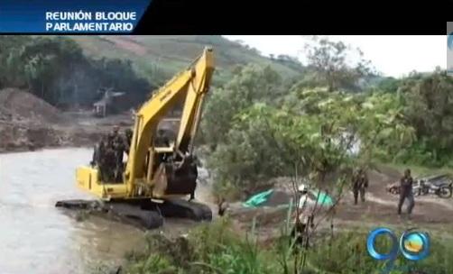 Minería ilegal preocupa al Bloque Parlamentario del Valle