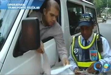 Operativos contra el transporte escolar irregular