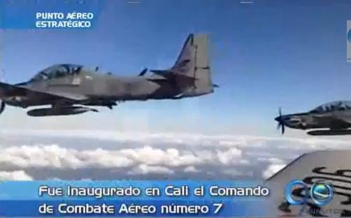 Inaugurado en Cali el Comando Aéreo de Combate No 7