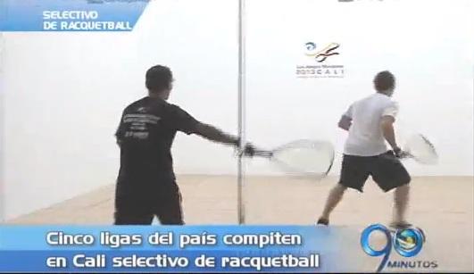 Cinco ligas compiten en selectivo nacional de racquetball