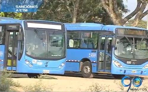 Metrocali sancionará al operador ETM por incumplimiento