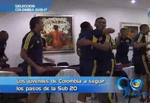 Selección Colombia Sub 17 también festejó el título de la Sub 20