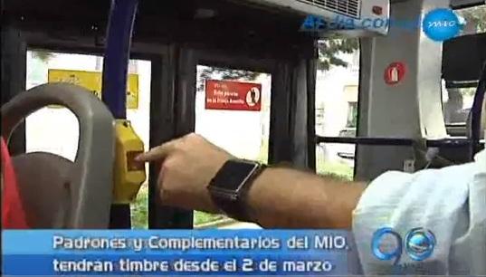 En marzo los buses del MIO tendrán timbre