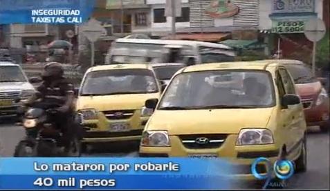 Asesinato de taxista generó protesta de sus colegas
