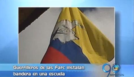 Las Farc utilizaron escuela para izar su bandera en zona rural de Tuluá