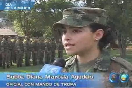 Diana Marcela Agudelo, una mujer con mando de tropa
