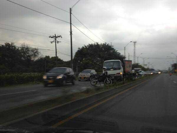 Congestión vial en el sur por accidentes de tránsito