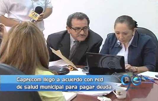 Acuerdo de pago entre Caprecom y red de salud municipal