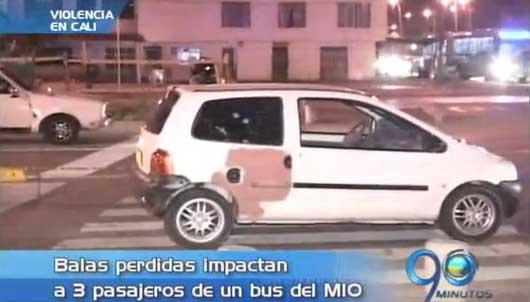 Ataque de sicarios dejó a tres pasajeros del MIO heridos