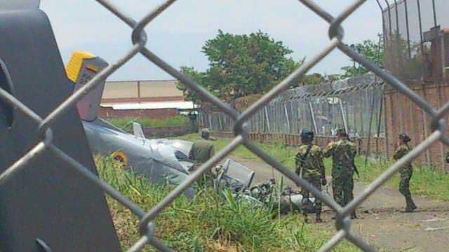 2 muertos deja accidente aéreo  en la Marco Fidel Suarez