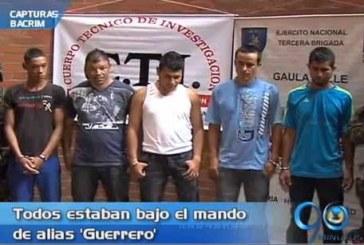 Capturados cinco presuntos miembros de 'Los Rastrojos'