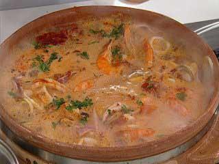 Receta del día: Cazuela de mariscos en salsa blanca