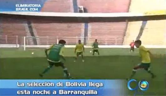 Selección Bolivia llega a la capital del Atlántico para enfrentar a Colombia