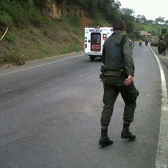 Un policía herido por explosión en Timbío, Cauca