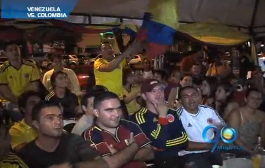 A pesar de la derrota, hinchas colombianos siguen optimistas