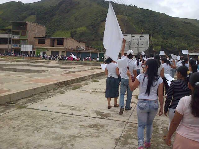 Marcha por ola de atentados en Argelia, Cauca