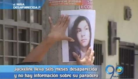 Seis meses sin rastro de la niña Jackeline Velasco