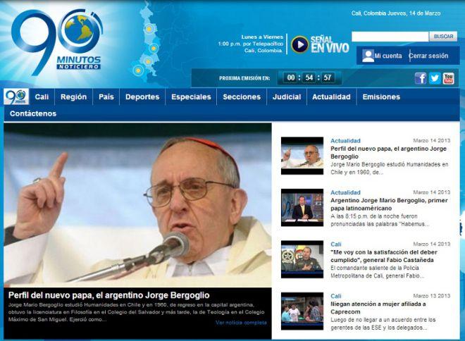 Cobertura del nuevo papa en los medios de comunicación
