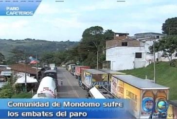 Mondomo, Cauca, sufre los embates del paro