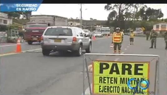 En Nariño está listo el operativo de seguridad de Semana Santa