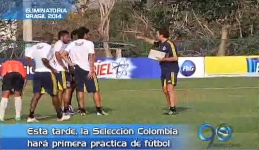 Selección Colombia practicó a puerta cerrada en Barranquilla