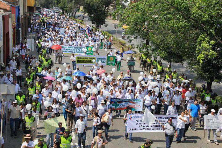 Así transcurrió la marcha por la paz en el Valle y en Nariño