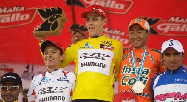 Pódium completo para Colombia en la Vuelta a Guatemala