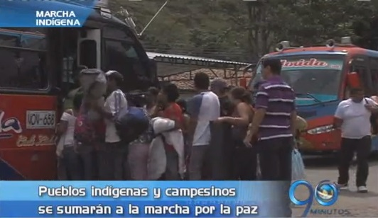 Comunidades indígenas del Cauca se sumarán a la marcha por la paz en Bogotá
