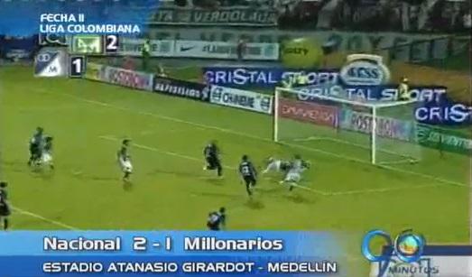 Atlético Nacional venció a Millonarios y es tercero en la Liga