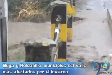 Roldanillo y Buga, los municipios más afectados por el invierno en el Valle
