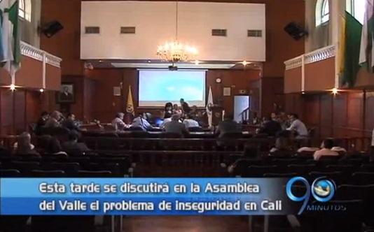Analizan problemática de seguridad en la Asamblea del Valle