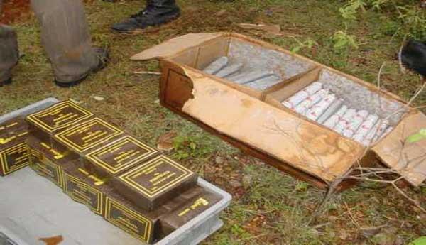 Asegurado suboficial del Ejército por tráfico de explosivos