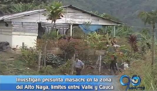 Investigan presunta masacre en el Alto Naya