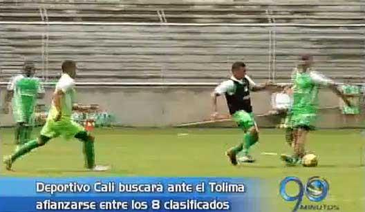 Deportivo Cali se enfrentará ante el Tolima, mañana en Ibagué
