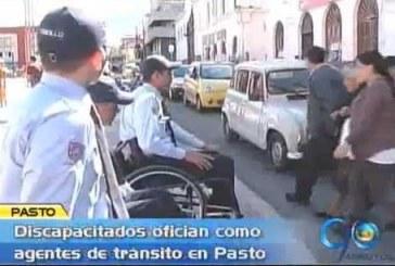 La discapacidad no es obstáculo para ser agente de tránsito en Pasto