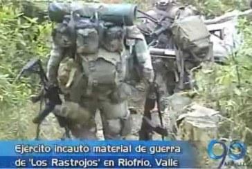 Ejército incautó material de guerra en Riofrío Valle