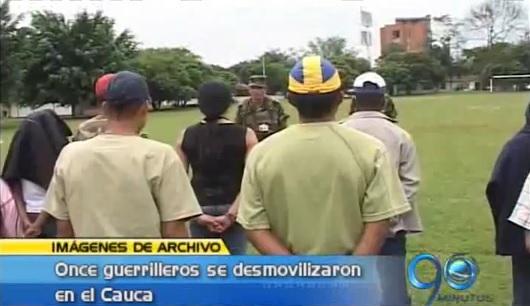 Se desmovilizan once guerrilleros en el Cauca