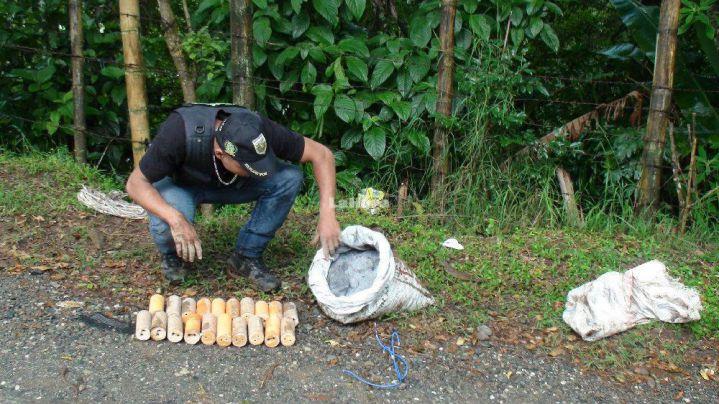 Inmovilizan taxi con explosivos en Popayán