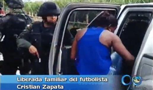 Liberada tía del futbolista Cristian Zapata